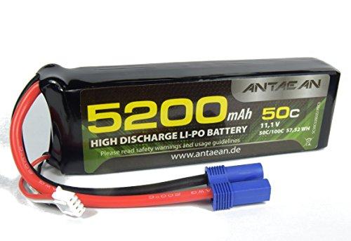 Antaean 3s 11,1V 5200mAh 50-100C Lipo Akku mit EC5 Stecker für RC Flugzeug RC Drone RC Auto