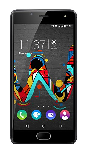 Wiko U FEEL Smartphone (12,7 cm (5 Zoll) HD IPS-Display, Fingerabdruck-Sensor, 16 GB interner Speicher, Android 6 Marshmallow) space grau -