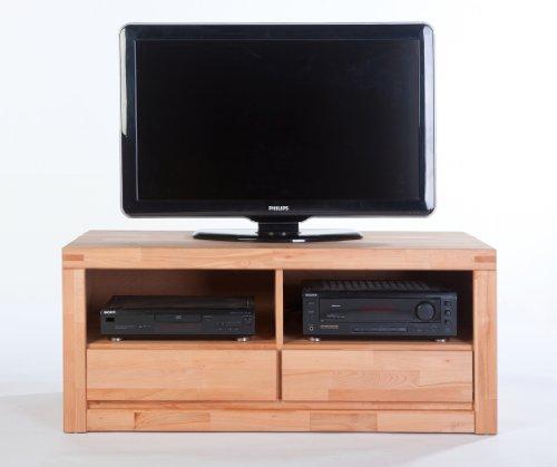 TV-Lowboard L Kernbuche massiv lackiert mit 2 Schubkästen