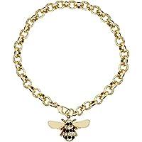 Katylen Little Bee Lady Diamant Armband Elegante Zirkon Mode Armreif Handpiece Nette Kleine Biene Halskette Schmuck,B,Einheitsgröße