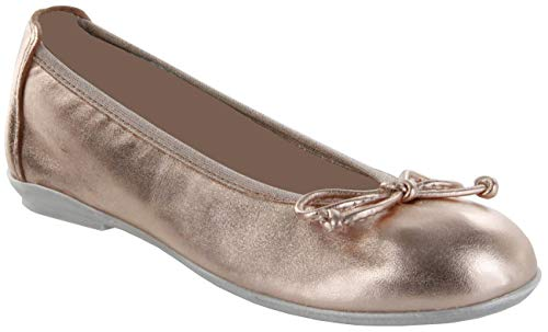 Richter Kinder Ballerinas Metallicleder Lederdeck rosa Mädchen Schuhe 3510-542-3000 Salmon Yvonne, Größe:37, Farbe:rosa