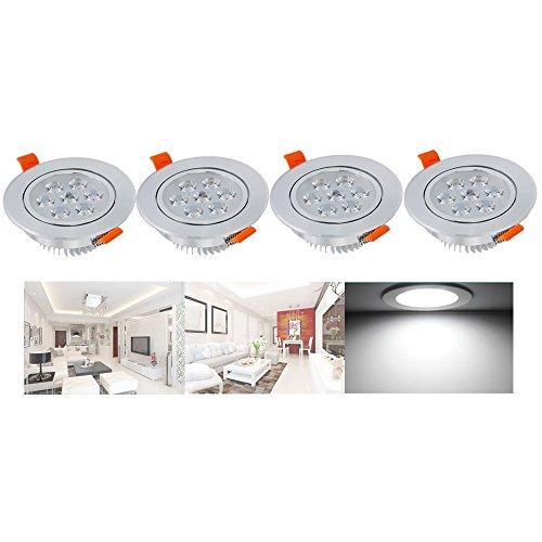 Hengda® LED Highpower Einbaustrahler Kaltweiß 7W 230V Einbauspots Badleuchten für den Wohnbereich , 4er Pack Einbauleuchten