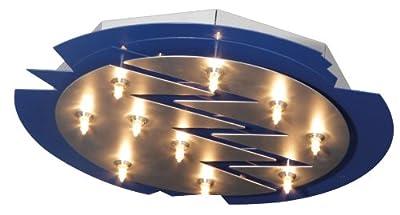 Näve Deckenlampe Sternenhimmel blau / silberfarbig 10x10W G4 Halogen 40cm Lampe 126412 Neu