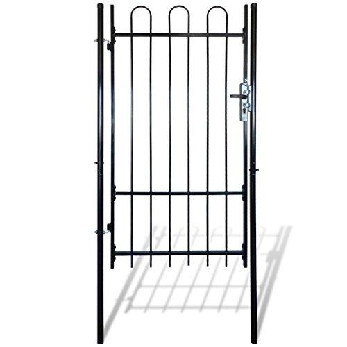 Festnight cancello recinzione con punte a cerchio (singolo) 100 x 175 cm