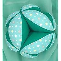 Pelota-Sonajero Montessori - Estrellas Multicolor Verde