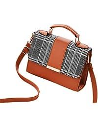 4c50c86d71 HF morning Mode Kariert Damen Schultertasche Klein Elegant Crossbody Tasche  Ultralight Wasserdicht Umhängetasche Hochwertig…