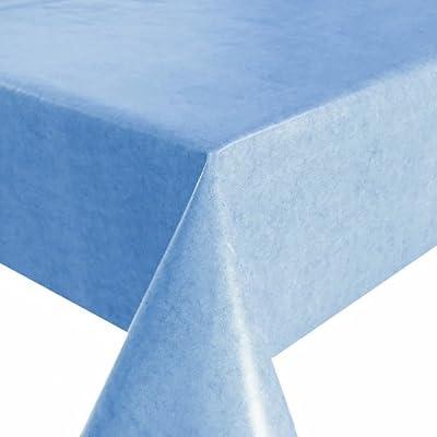 Abwaschbare Tischdecke Wachstuch Einfarbig UNI Blau Eckig Breite 100, 110, 120, 130 oder 140 cm x Länge & Farbe wählbar Gartentischdecke von DecoHometextil von DHT-Wachstuch - Gartenmöbel von Du und Dein Garten