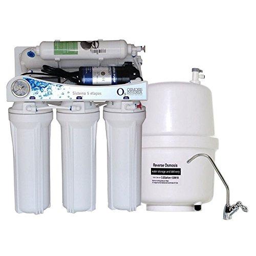 Equipo domestico de Osmosis Inversa 5 Etapas con bomba