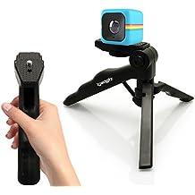 igadgitz 2 in 1 Pistola Stabilizzatore Manico & Mini Treppiede da Tavolo per Polaroid Cube HD, XS100 & XS100i Extreme Edition Action Cams (Polaroid Adattatore Obbligatorio)