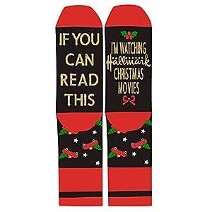 Wanghuaner Weihnachten Lustige Socken Glitter Gold Filme Rutschfeste Strumpfwaren Für Frauen Männer