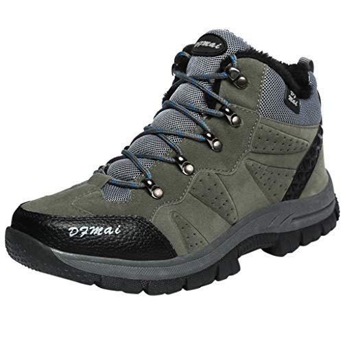 ITCHIC Scarpe da Ginnastica Invernali da Scamosciato per Uomo Coppia Scarpe da Corsa Outdoor da Trekking in Pizzo Scamosciato Scarpe da Trekking alla Moda 39-48