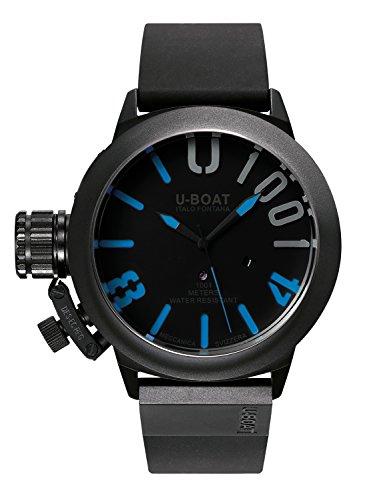 U-Boat Classico 471001IPB blu Reloj Automático para Hombre con Negro esfera analógica pantalla y correa negra de goma 7541.0