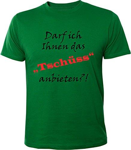 Mister Merchandise Herren Men T-Shirt darf Ich Ihnen Das Tschüss Anbieten Tee Shirt Bedruckt Grün