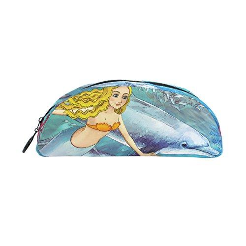 zzkko Sea Mermaid Dolphin Reißverschluss Pen Bleistift Tasche für Kinder Mädchen Jungen Jugendliche Erwachsene