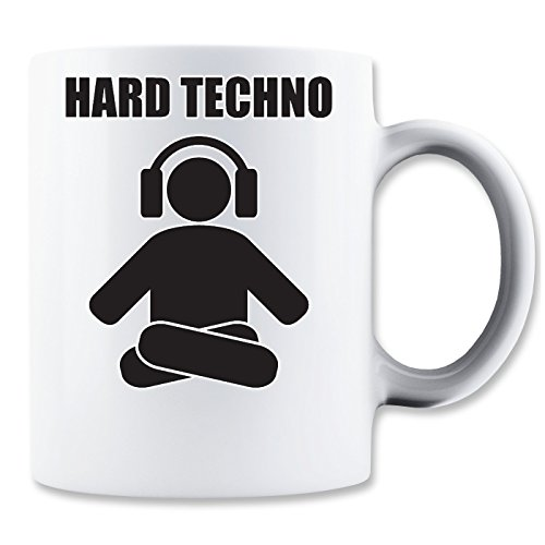 LukeTee Hard Techno Levitating Human Music Collection Minimal Style Klassische Teetasse Kaffeetasse