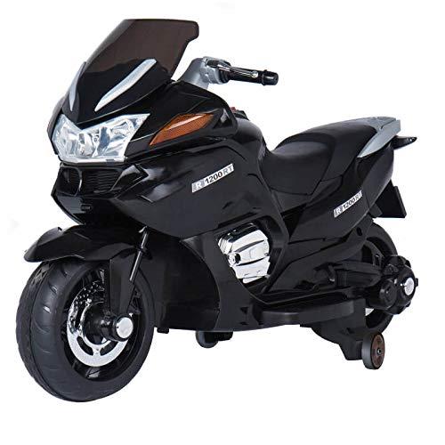ATAA CARS Gran Turismo 12v Biplaza - Negro - Moto eléctrica Dos plazas para niños de hasta 9 años. Batería...