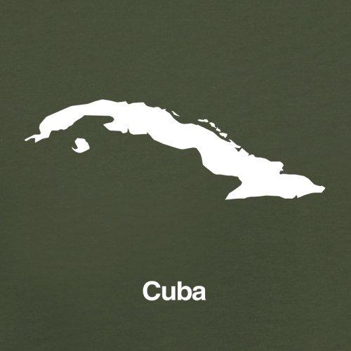 Cuba / Kuba Silhouette - Herren T-Shirt - 13 Farben Olivgrün