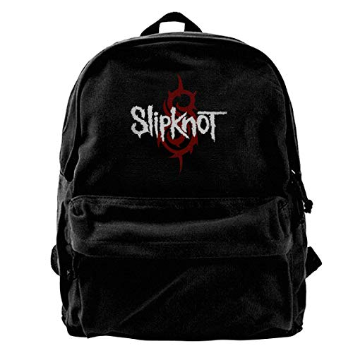 Slipknot Backpack Unisex Classic School Bookbags Canvas Backpack Travel Bag Duffel Bag 14Inch Laptop Bag Purse for Boy's Girl's -