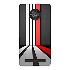 Neo World Red And White Stripes Back Case Cover for Yu Yunique
