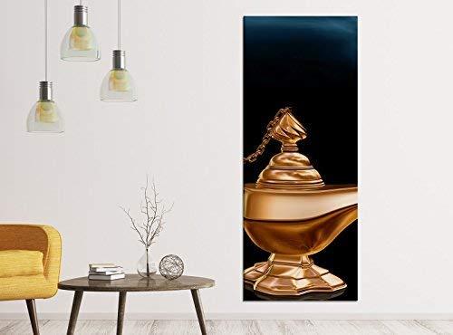 40x100cm Kinderzimmer Märchen Lampe Dschinn Leinwandbild Kunstdruck Wand Bilder Vlies Wandbild Leinwand Bild Druck 9ZA488, Leinwandbild Gr. 1:40cmx100cm ()