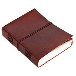 Notizheft Buch Notizbuch Tagebuch Reisetagebuch DIN A6 Braun Leder