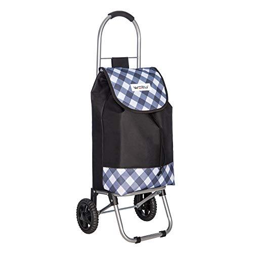 WOLTU Einkaufstrolley Klappbar Einkaufswagen Einkaufstasche Handwagen Einkaufsroller Leichte EW4808