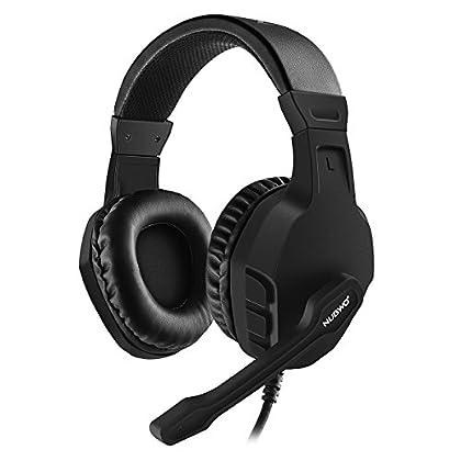 NUBWO Gaming Auriculares, U3 Estéreo Micrófono con Cancelación del Ruido, Audífonos con Control de Volumen Interruptor Mudo para PC,Mac,PS4,Xbox One, Android y iPhone — Negro