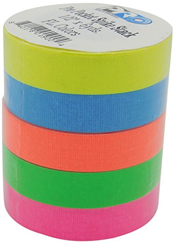 ck RS127SS5X12X5.4 12 mm x 5.4 m Fluorescent Matt Cloth Tape - Pink/Blue/Orange/Yellow/Green ()