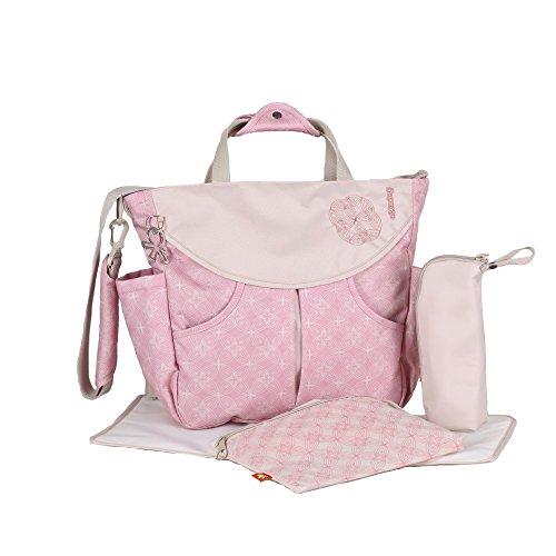 Okiedog Wickeltasche /-rucksack Biscotti Sumo rosa, Polyester