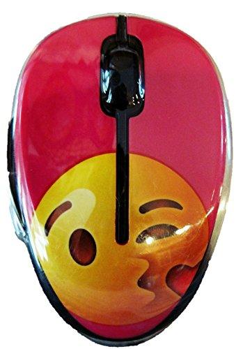 Onn Emoji Wireless Mouse - Kissing Heart Emoji