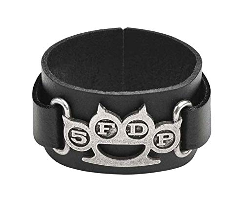 Five Finger Death Punch Armband Knuckle Duster Band Logo Nue offiziell -