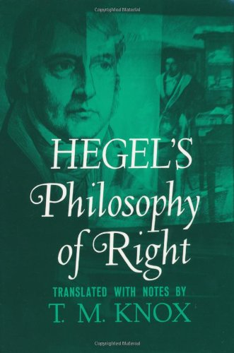 Hegel's Philosophy of Right (Galaxy Books)