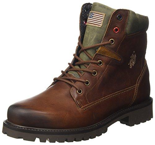 U.S.POLO ASSN. Herren Shan Desert Boots, Braun, 42 EU (Schuhe Polo Stiefel Herren)