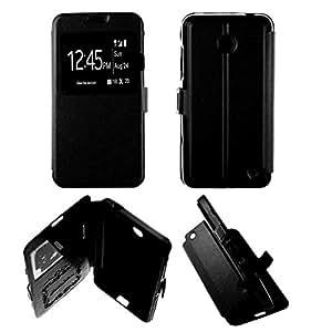 Coque Housse Etui Folio Fenêtre Nokia Lumia 630 635 - Noir