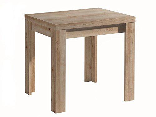 Avanti trendstore - merlox - tavolo allungabile in laminato di quercia grezza, dimensioni: lap 80x78x60 cm