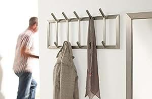 wandgarderobe edelstahl flurgarderobe 5 haken matt k che haushalt. Black Bedroom Furniture Sets. Home Design Ideas