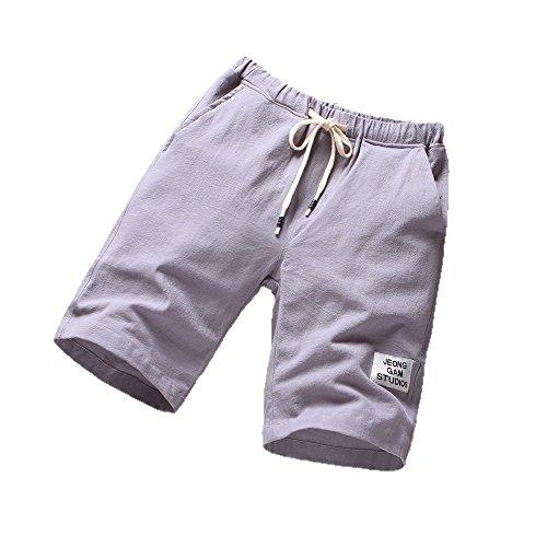 NEEKY Männer Shorts Sport Herren Strandhosen Sport Atmungsaktive Modehosen Sommer Fitness Laufhosen Herren Bade Shorts Kurz Diesel(4XL,Grau)