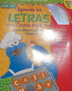 Aprende Las Letras Con Cookie Monster/Learn About Letters With Cookie Monster: Wipe-off Workbook (Sesame Street)