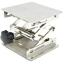 Grúa de acero inoxidable para laboratorio con plataforma de 100 x 100 x 150 mm,