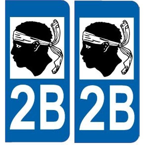 Safirmes 2 Aufkleber Für Nummernschild Auto 2b Korsika Logo Auto