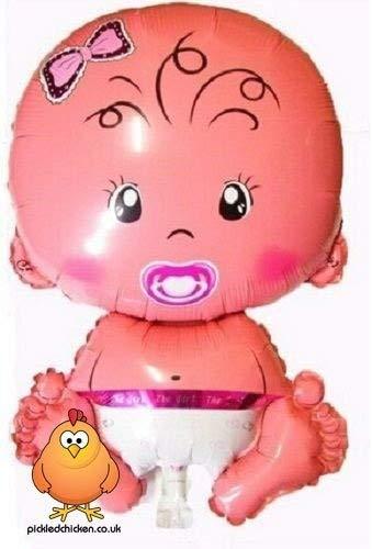 (Giant Cute Baby Girl Supershape Helium Ballon geeignet für Baby Dusche Taufe Neugeborene Geburt)