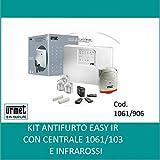 Urmet 1061/906 Kit Antifurto Con Centrale 2 Zone Con sensore ad Infrarosso Easy Ir