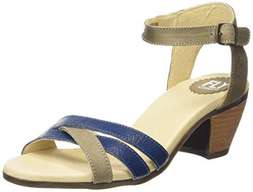 FLY London Saiz676fly, Sandales Bride cheville femme Multicolore - Mehrfarbig (TAUPE/BLUE 003)