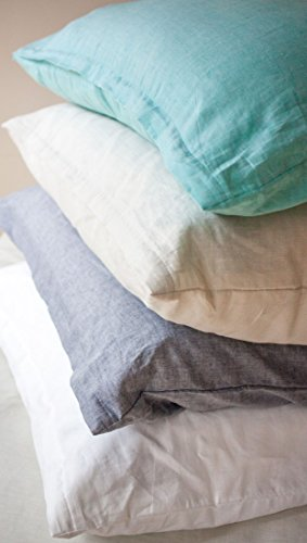 LIVING DREAMS Leinen-Baumwoll-Bettwäsche 135x200 cm weiß