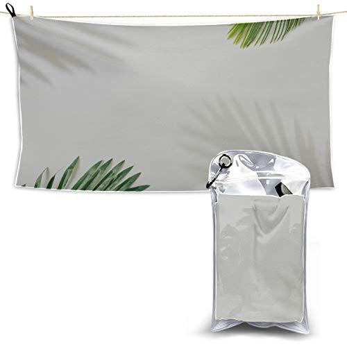 Kreatives Layout aus bunten tropischen Blättern trocken schnell schwimmen Handtücher Strandtuch für Mädchen schnell trocknend Badetuch Surf Strandtuch 27,5 '' X 51 '' (70 * 130 cm) am besten für Gym -