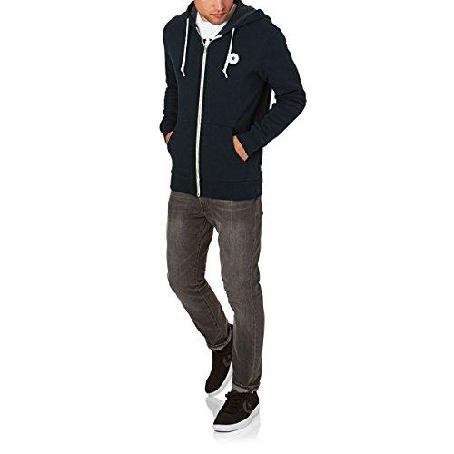 Converse Herren Sportkapuzenpullover Core Full Zip Hoodie Blau