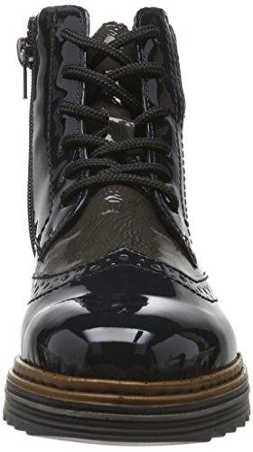 Rieker Y6323, Stivali Donna Blu (Marine/fumo/grau)