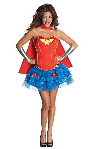 Rubies 3880560 - Wonder Woman Corset Dress Adult, M, rot