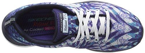 Skechers Valeris Mai Tai, Chaussures de Running Compétition femme Bleu - Blue (Nvw)