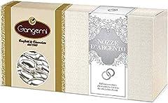 Idea Regalo - Gangemi NOZZE D' ARGENTO - Raffinati Confetti con interno di Mandorla Rivestiti da una Patina Argentata - 1kg